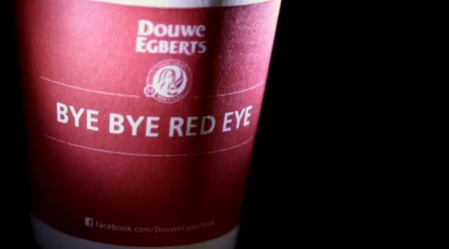 Douwe Egberts Bye Bye Red Eye campaign