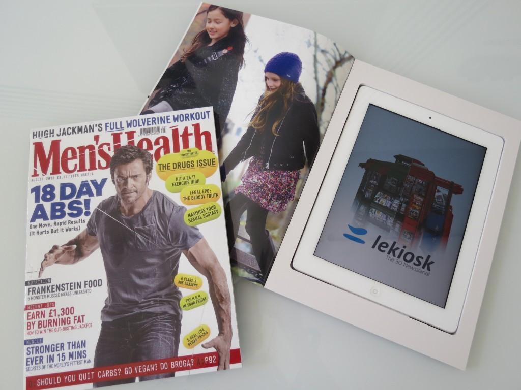 Men's Health magazine tablet hide