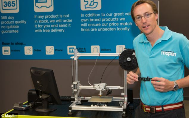 First 3d printer available on high street