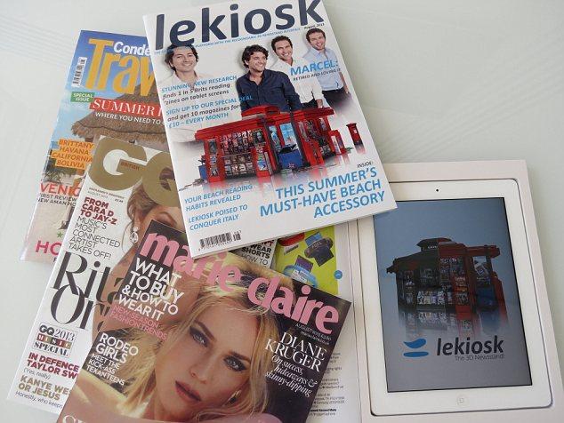 lekiosk anti theft ipad glossy magazine