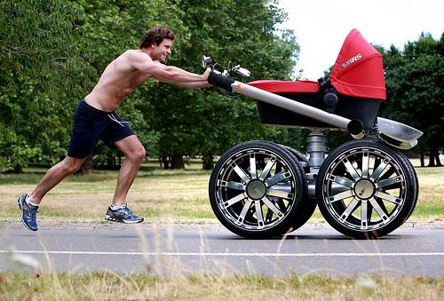 Skoda unveil 2m tall 'man pram' in eye-catching PR stunt to launch new Octavia