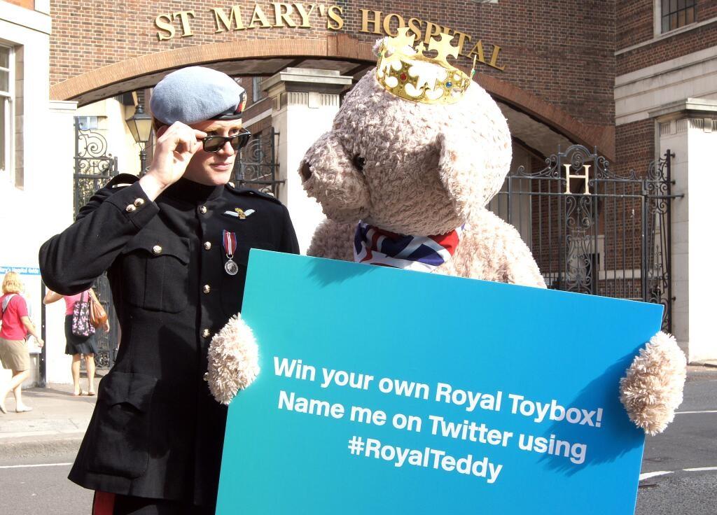 royal baby pr stunt hasbro toys harry lookalike teddy bear
