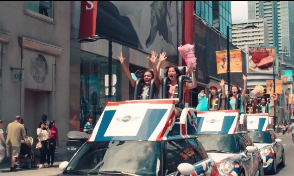 MINIs turned into road worthy roller coasters in fun stunt through the streets of Toronto