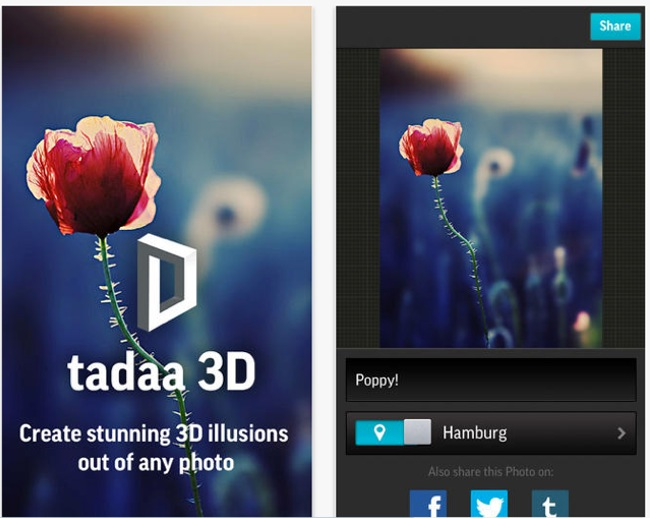 Tadaa! Like Instagram, but in 3D