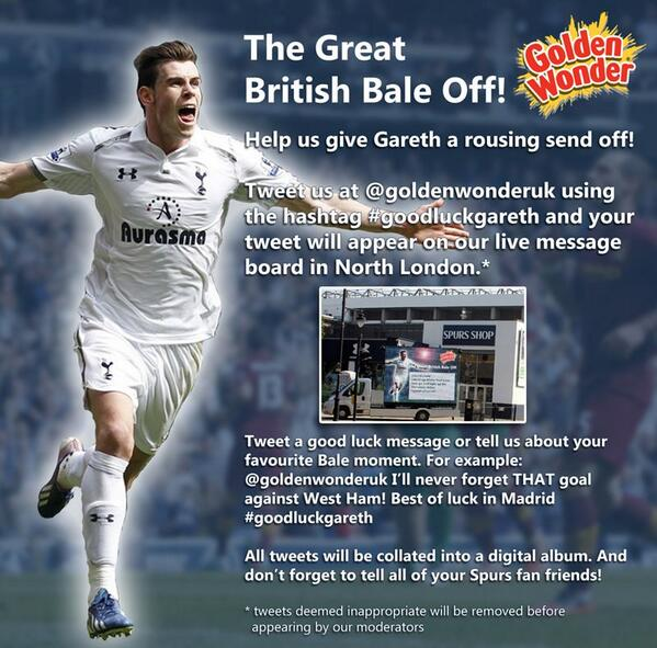 gareth bale golden wonder
