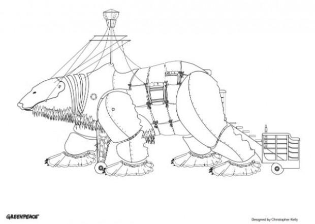 polar bear drawing greenpeace