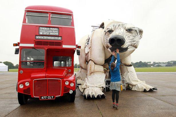 polar bear world's largest greenpeace campaign parade
