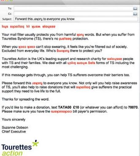 tourettes action emails