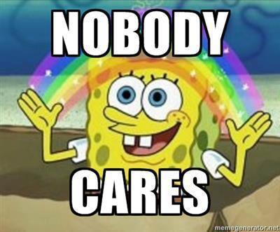 spongebob nobody cares 2