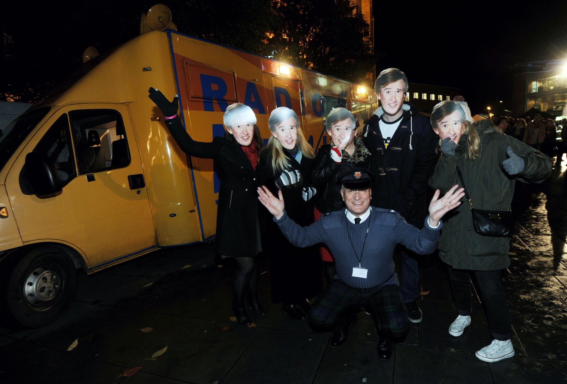 Alan Partridge laser light show brings Norwich Christmas light