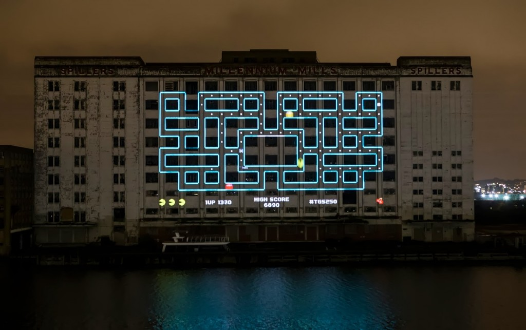 Pac-Man screen world's biggest projection