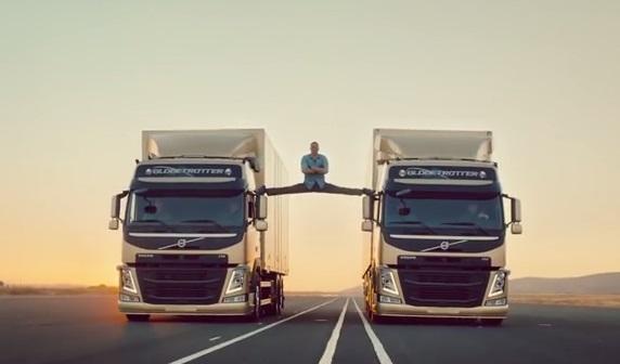 Van Damme splits Volvo trucks
