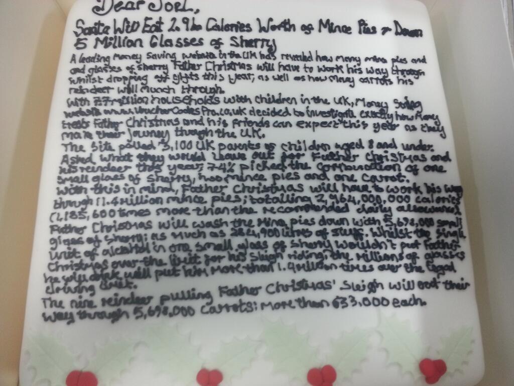 Press release cake