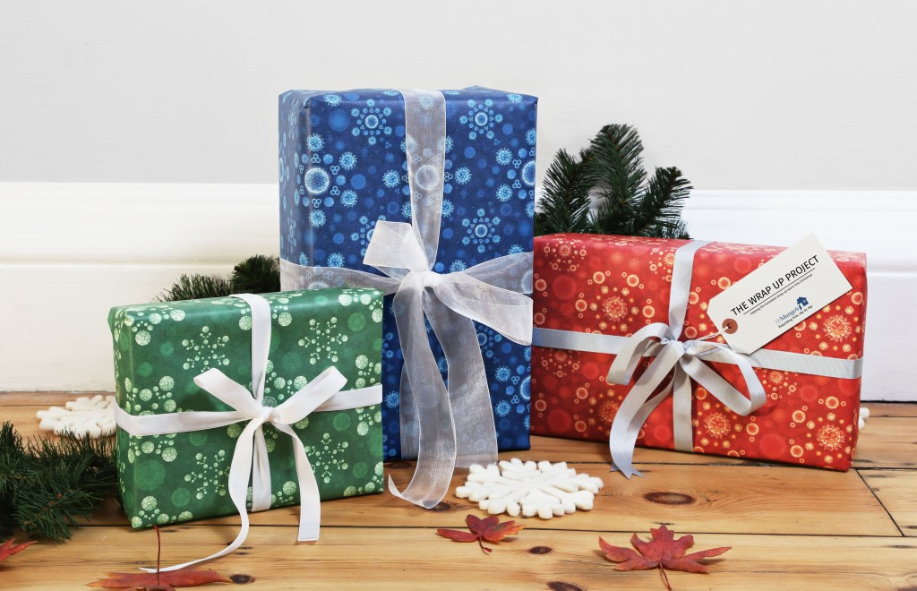 """FIRST EVER """"INFECTIOUS"""" WRAPPING PAPER TO HELP HOMELESS PEOP"""