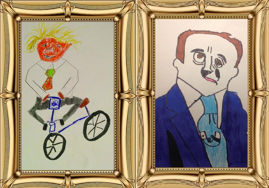 Boris Johnson David Cameron kids art competition