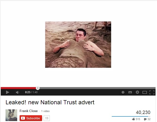 national trust spoof ad