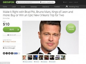 Want to meet Brad Pitt? There is a Groupon for this