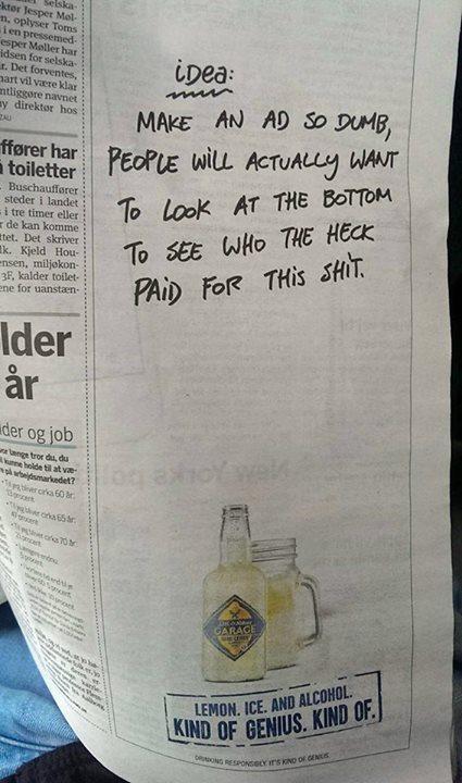 Kind of Genius ad.