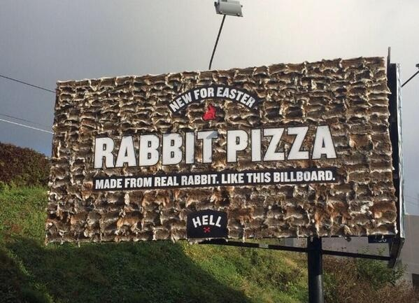 hell pizza made from real rabbits