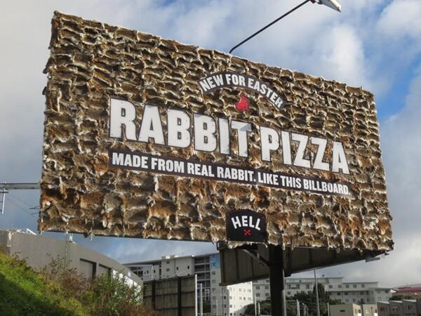 rabbit pizza billboard hell 2