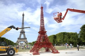 Mini Eiffel Tower Built To Celebrate Iconic Bistro Chairs