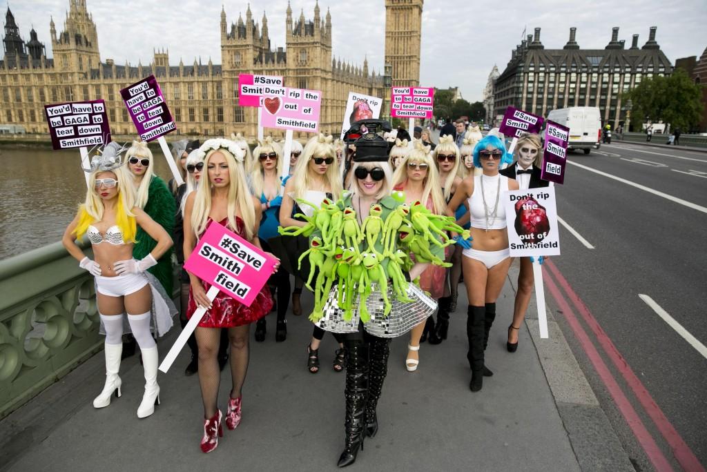 Lady Gaga Smithfield protest