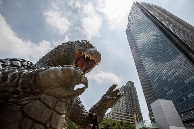 Godzilla Statue Unveiled In Tokyo