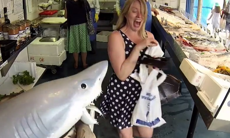 Londoners targeted in Sharknado shark attack stunt