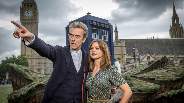Tardis Crash Lands In Parliament Square ahead of Doctor Who launch