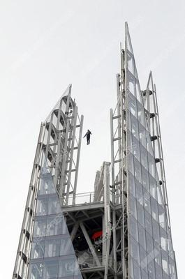 Dynamo spotted levitating above The Shard