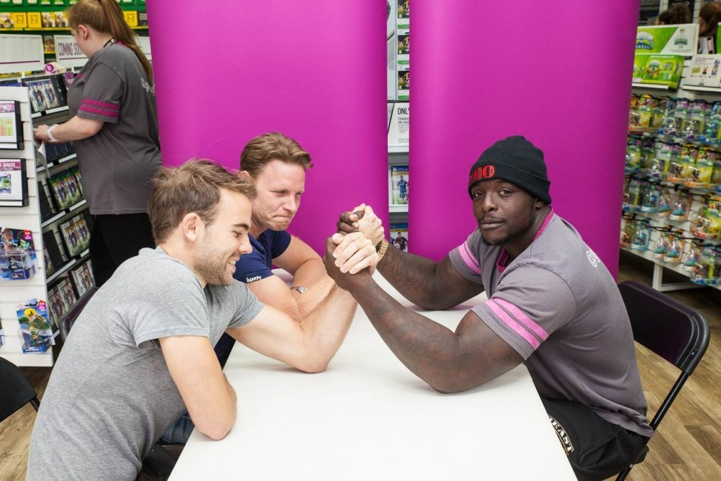 Ade 'The Beast' Akinfenwa provides added muscle for GAME's FIFA 15 launch