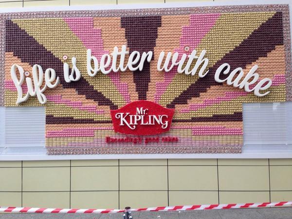 mr kipling edible billboard