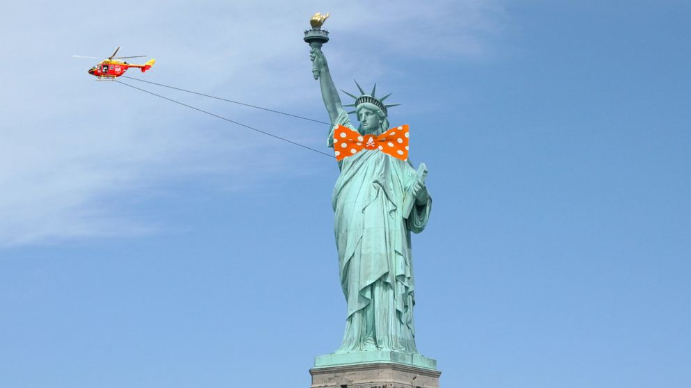 Statue of Liberty to be 'dressed' in a bow tie in this Hallowe'en PR stunt
