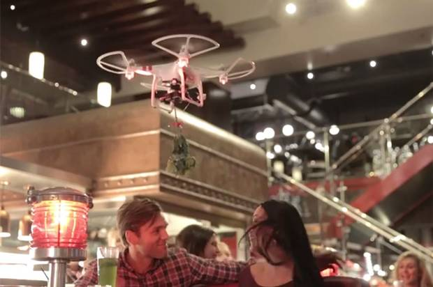 TGI Friday's to fly drones with mistletoe around and force couples to kiss this Christmas