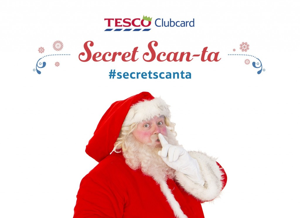 Tesco launches Secret Scan-ta for twitter inspired gift ideas