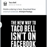 Taco Bell Facebook text graphic