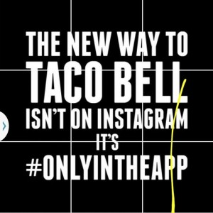 Taco Bell Instagram text graphic