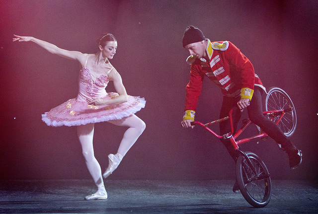 Ballerina and BMX-ers unite in unlikely festive campaign for delivery company