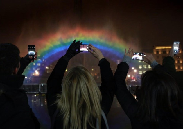 'Night Rainbow' installation marks Channel 4 launch