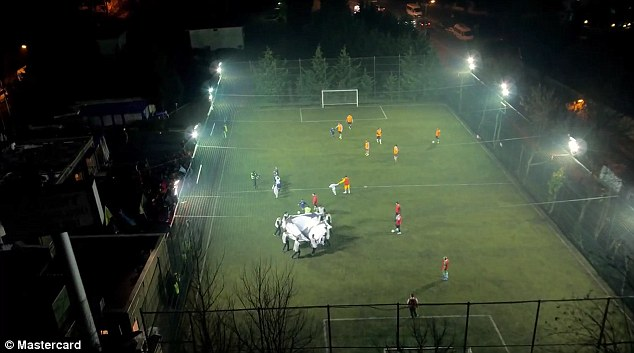 MasterCard turn 5-a-side match into Champions League Final