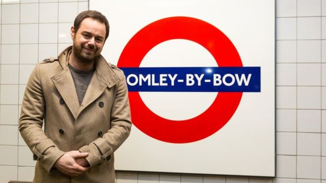 Danny Dyer turns tube announcer as part of EastEnders 30th anniversary