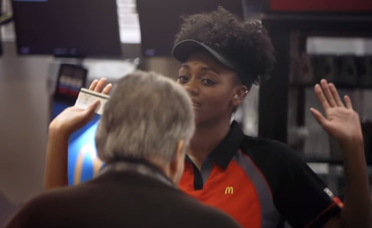 McDonald's Pay with love