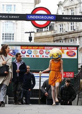 'Emoji people' spotted in London to promote TalkTalk microsite