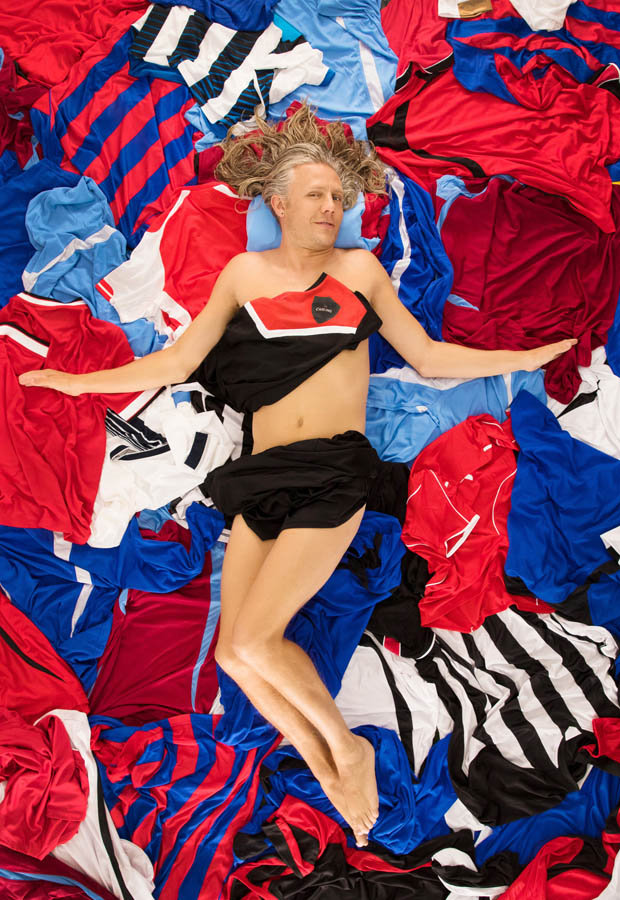 Footballer Jimmy Bullard strips to promote Carling Shirt Amnesty campaign