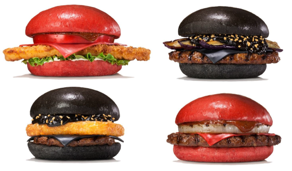 Burger King unveil red and black burgers in Japan