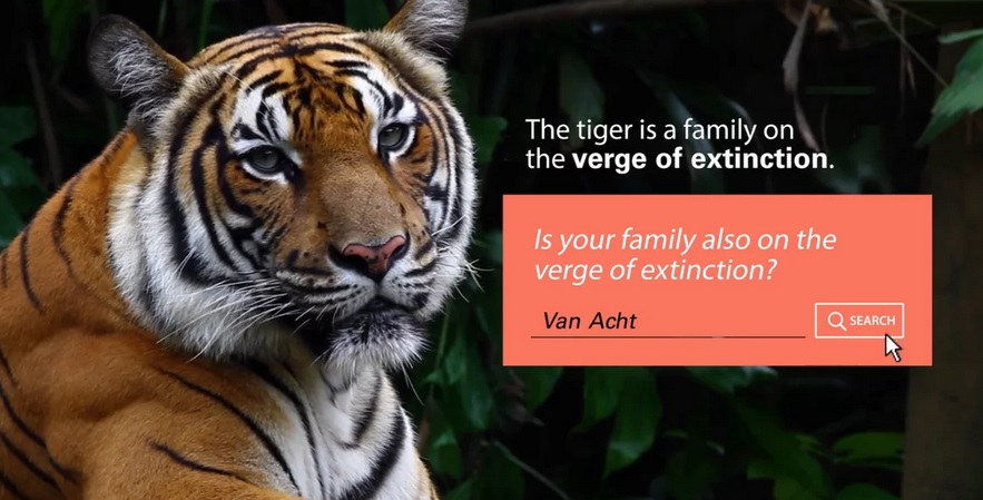 WWF appeal to families 'on the verge of extinction' in this charity PR campaign