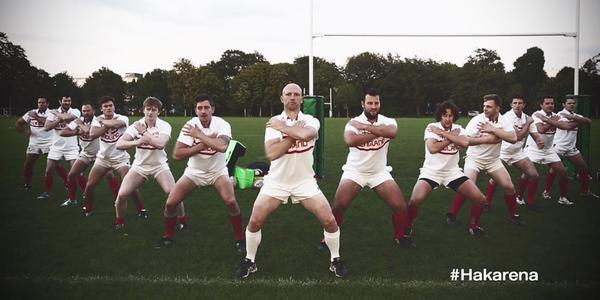 Ex-rugby legend Matt Dawson launches the Hakarena
