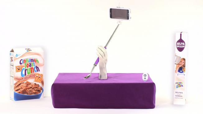 Cinnamon Toast Crunch create the world's first selfie spoon