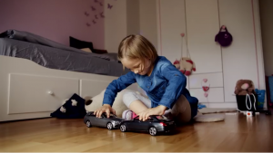 Mercedes-Benz create uncrashable toy cars to promote anti-crashing feature in real cars.