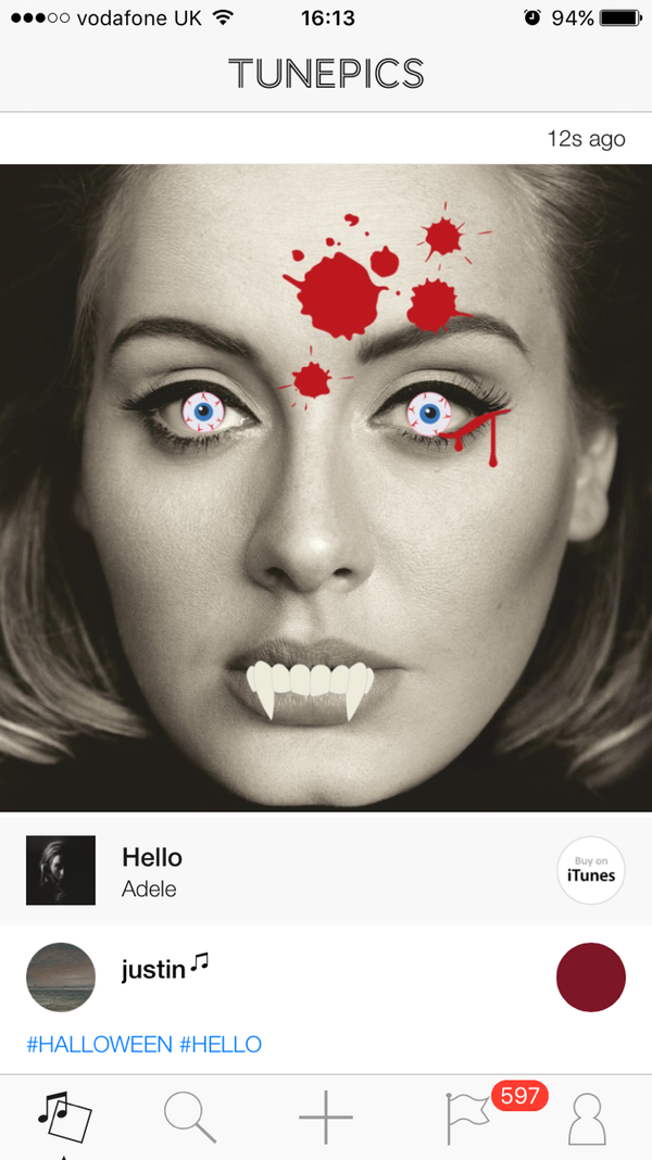Trick or tune? Tunepics embraces Halloween to mark five millionth user